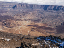 Crater. Volcanic landscape - crater - desert - cloudy sky Stock Images