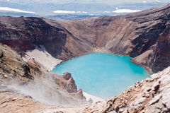 In crater of the volcano Royalty Free Stock Images