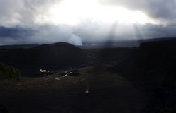 Crater volcano. View of the volcano crater in Hawaii stock image