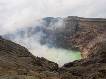 Crater of the volcano Aso Royalty Free Stock Photos