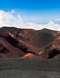 Crater of the volcano Etna in Sicily Royalty Free Stock Photo