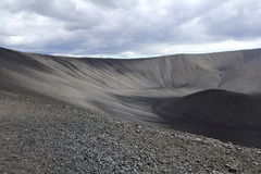 Crater. From the volcano in Iceland Royalty Free Stock Photo