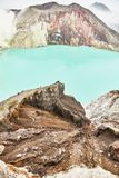 Crater of the volcano Ijen. View from above royalty free stock photo