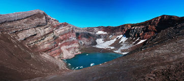 Crater of a volcano in Kamchatka Stock Photography