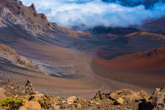 The Crater of a Volcano Stock Photo