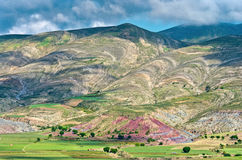 Crater of volcano Maragua, Bolivia Royalty Free Stock Image