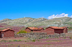 Crater of volcano Maragua, Bolivia. House in village in Crater of volcano Maragua in Bolivia Stock Images