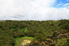 Crater of volcano in Mauritius Royalty Free Stock Photography