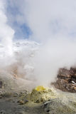 Crater of the volcano Mutnovskiy Stock Images