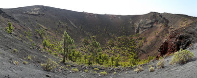 Crater of volcano San Antonio (La Palma, Canary Islands) Stock Image