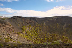 Crater of Volcano San Antonio in Las Palmas at Canary Islands Royalty Free Stock Photography