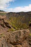 Crater of Volcano San Antonio in Las Palmas at Canary Islands Stock Photos