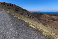 Crater of the volcano of Santorini Island Royalty Free Stock Photo