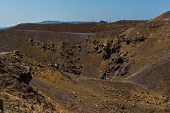 Crater of the volcano of Santorini Island Royalty Free Stock Images