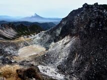 Crater of volcano in Sumatra Stock Image