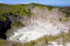 Crater vulcano Mahawa, Sulawesi,Indonesia Royalty Free Stock Images