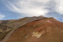 Cratera Catania Italia de Etna do vulcão fotos de stock royalty free
