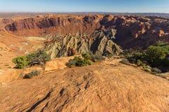 Cratera da abóbada da agitação no parque nacional de Canyonlands, EUA imagens de stock