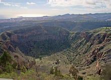 Cratera de Bandama Fotos de Stock Royalty Free