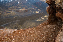 Cratera de Etna Imagens de Stock