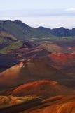 Cratera de Haleakala Fotos de Stock Royalty Free