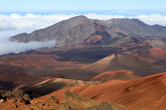 Cratera de Haleakala em Maui, Havaí Fotografia de Stock