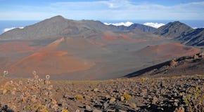 Cratera de Haleakala, Haleakala Maui, Havaí Fotografia de Stock
