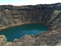Cratera de Kerið imagens de stock