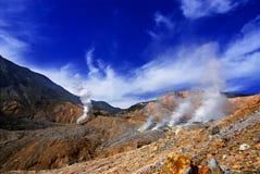 Cratera de Papandayan Fotos de Stock