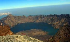 Cratera de Rinjani Fotografia de Stock
