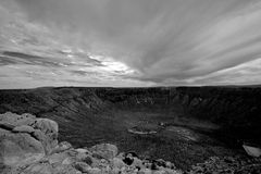 Cratera do meteoro Imagens de Stock Royalty Free
