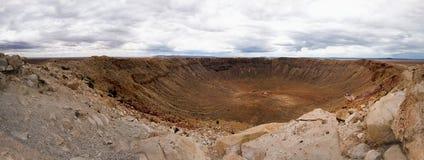 Cratera do meteoro de Barringer, o Arizona fotografia de stock