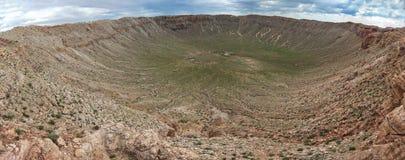 A cratera do meteoro, igualmente conhecida como a cratera de Barringer é uma cratera do impacto do meteorito imagem de stock royalty free