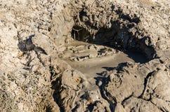 Cratera do vulcão da lama Foto de Stock