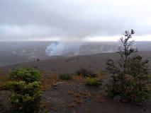 Cratera do vulcão de Kilauea fotografia de stock