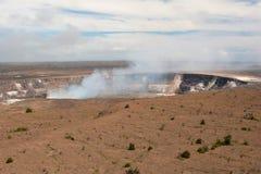 Cratera do vulcão de Kilauea imagens de stock