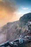 Cratera do vulcão de Mombacho perto de Granada, Nicarágua imagem de stock royalty free