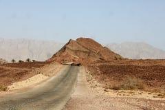 A cratera e o vale bíblicos de Timna no sul de Israel fotos de stock royalty free
