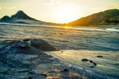 Cratera enlameada do vulcão Imagem de Stock Royalty Free
