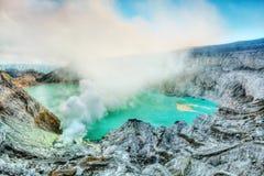 Cratera Ijen Imagem de Stock