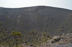 Cratera interior do La Palma In The Canary Islands de San Antonio Volcano On The Island Of Curso, natureza, feriados, geologia imagens de stock royalty free
