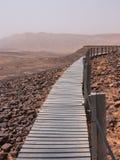 Cratera Mizpe Ramon - deserto do Negev Foto de Stock Royalty Free