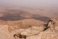 Cratera Mizpe Ramon - deserto do Negev Foto de Stock
