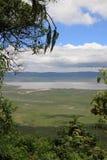 Cratera Tanzânia de Ngorongoro imagens de stock
