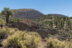 Cratera Volcano National Monument do por do sol Fotografia de Stock Royalty Free