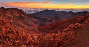 Cratera vulcânica foto de stock