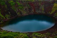 Cratera vulcânica de Kerid em Islândia, Europa fotos de stock royalty free