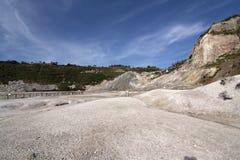 Cratera vulcânica do Solfatara Fotos de Stock Royalty Free