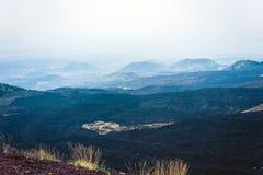 Crateras de Silvestri de Monte Etna, vulcão ativo na costa leste de Sicília, Itália imagem de stock royalty free