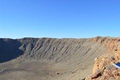 Cratere Arizona della meteora Fotografia Stock Libera da Diritti